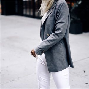 Banana Republic gray oversized boyfriend blazer